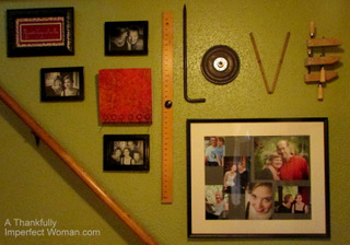 My stairway wall...